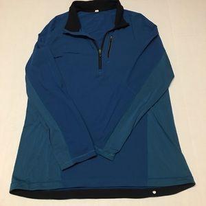 Lululemon Athletica pullover logo blue 1/4 zip